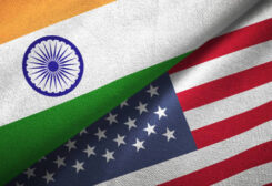 American and Indian flags