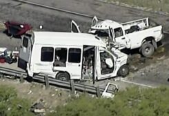Texas van crash