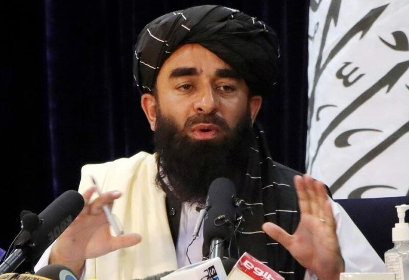 Taliban spokesman Zabihullah Mujahid speaks during a news conference in Kabul, Afghanistan August 17, 2021. (Reuters)