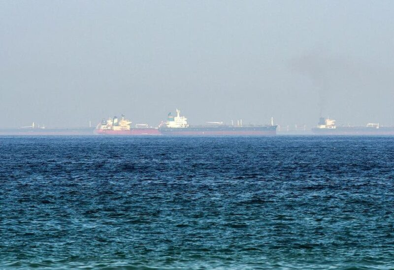 This picture taken on June 15, 2019 shows tanker ships in the waters of the Gulf of Oman off the coast of the eastern UAE emirate of Fujairah. (File photo: AFP)