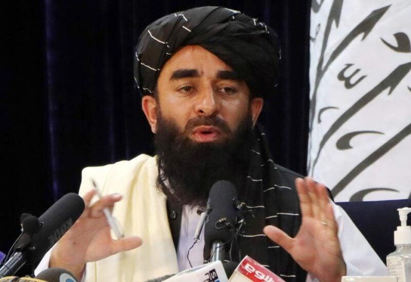 Taliban spokesman Zabihullah Mujahid speaks during a news conference in Kabul, Afghanistan August 17, 2021. (File photo: Reuters)