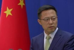 Chinese Foreign Ministry spokesman Zhao Lijiang speaking at the daily news conference, Beijing, China, September 17, 2021. (Reuters)