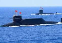 A nuclear-powered Type 094A Jin-class ballistic missile submarine of the Chinese People's Liberation Army (PLA) Navy is seen during a military display in the South China Sea April 12, 2018. (File photo: Reuters)