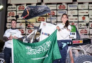 Dania Akeel became the first Arab and Saudi woman to win the 2021 FIA World Cup for Cross-Country Bajas. (Instagram)