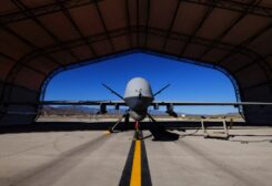 A US Air Force MQ-9 Reaper drone sits in a hanger at Creech Air Force Base in Nevada in the US. (File photo: Reuters)