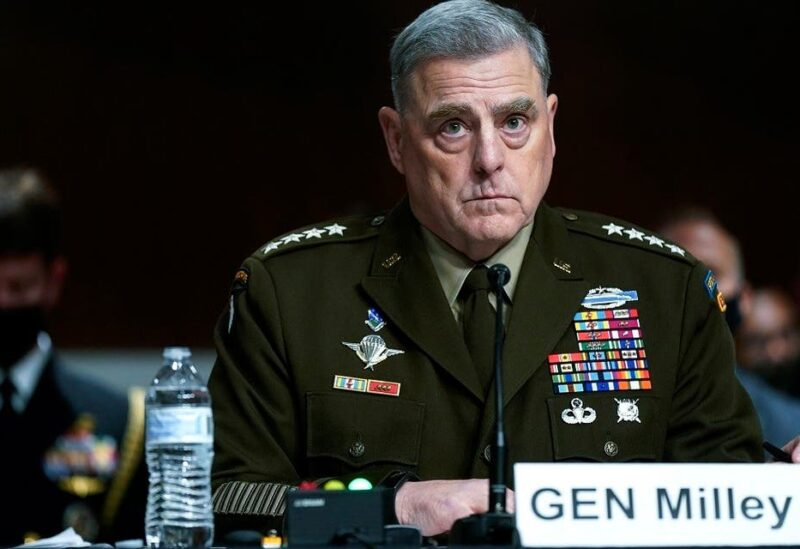 Chairman of the Joint Chiefs of Staff Gen. Mark Milley at a Senate Armed Services Committee hearing on the conclusion of military operations in Afghanistan, Sept. 28, 2021. (AP)