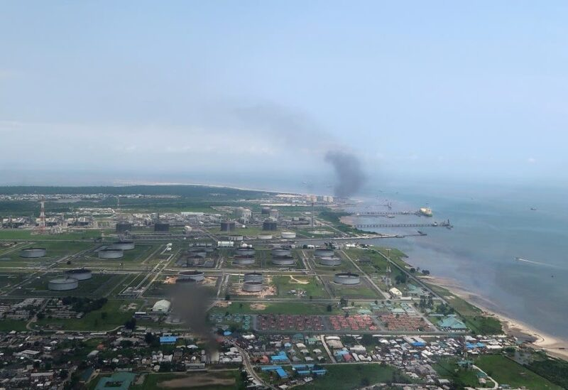 A view shows the Bonny oil terminal in the Niger delta which is operated by Royal Dutch Shell in Port Harcourt, Nigeria. (Reuters)
