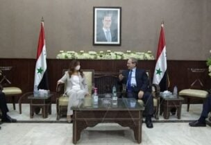 Akar and the Syrian foreign minister