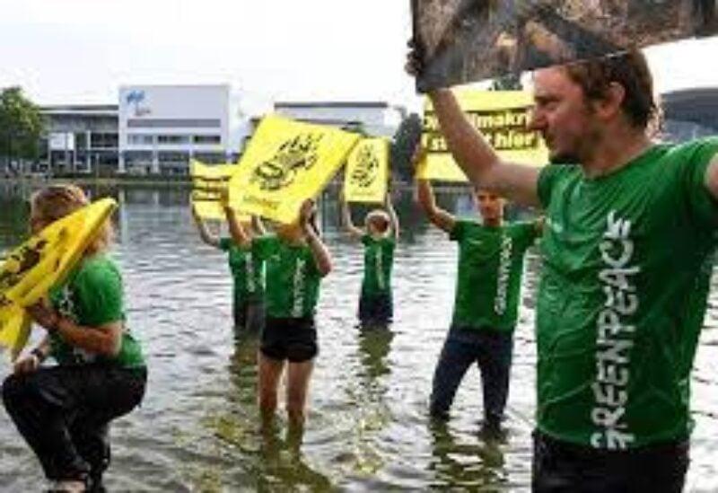 Greenpeace activists.
