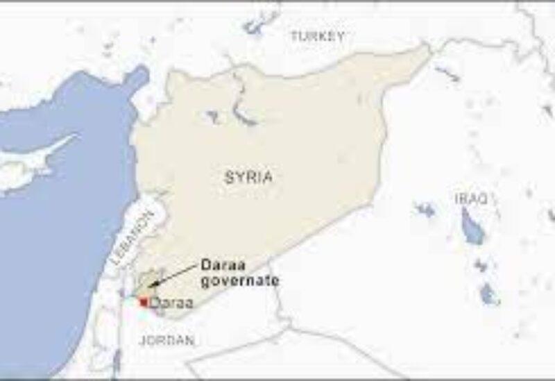 Syria, Daraa map