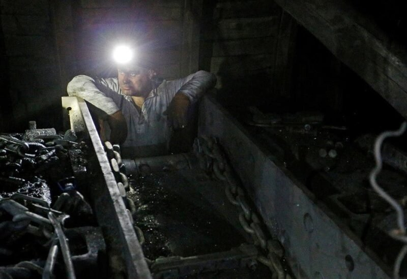 A miner works at the Progress coal mine near the rebel-controlled city of Torez in Donetsk Region, Ukraine. (Reuters)