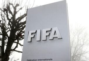 FIFA's logo is seen in front of its headquarters during a foggy autumn day in Zurich, Switzerland November 18, 2020. (File photo: Reuters)