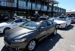 A fleet of Uber's Ford Fusion self driving cars are shown during a demonstration of self-driving automotive technology in Pittsburgh, US, on September 13, 2016. (Reuters)