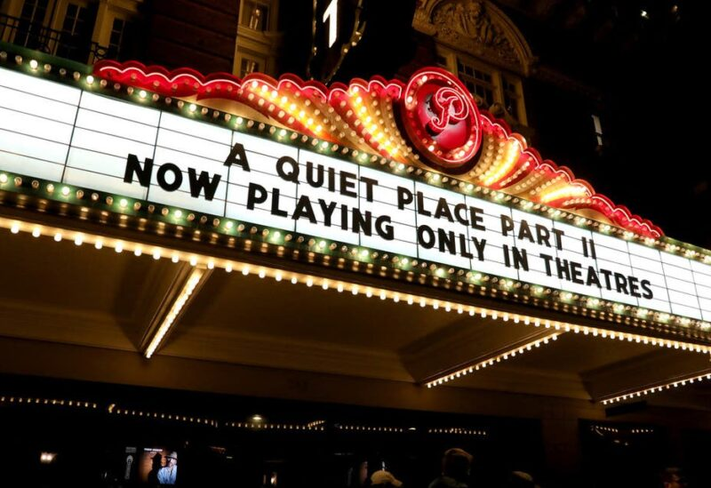 A view of the atmosphere at the Austin screening of 'A Quiet Place Part II' at the The Paramount Theater on May 28, 2021 in Austin, Texas. (AFP)