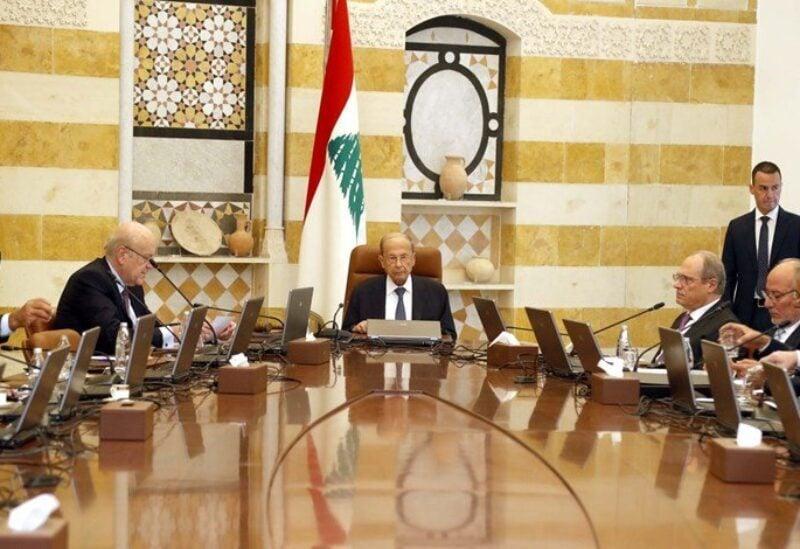 Cabinet session in Baabda