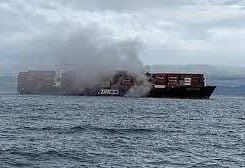 Canada burning ship