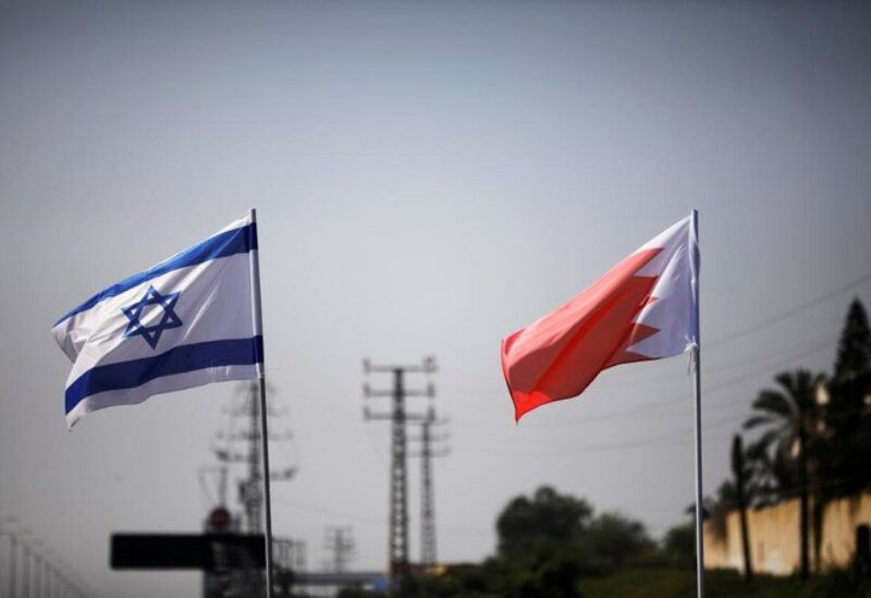 Israeli and Bahreini flags