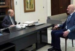 President Michel Aoun and Interior Minister Bassam Mawlawi
