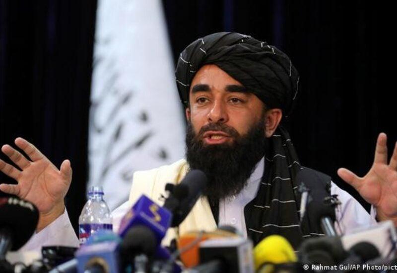 Taliban spokesperson Zabihullah Mujahid