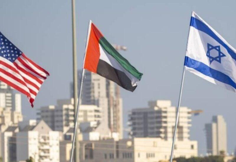 US UAE and Israeli flags